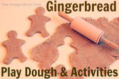 This is a really easy recipe for gingerbread play dough! Such fun for little kids and smells wonderful!