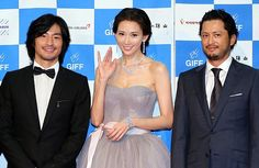 "Taiwanese model and actress Lin Chi-ling attended a press conference for her new movie ""Sweetheart Chocolate"" during the 13th Gwangju International Film Festival in Gwangju, South Korea, 29 August 2013. Clad in a grey strapless gown, Lin looked graceful and romantic. Japanese actors Yusuke Fukuchi and Hiroyuki Ikeuchi were also present at the red carpet event."