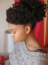 natural hair updos pinterest - Google Search
