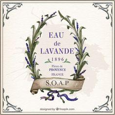 Lavande Vintage Moldura Vetor grátis Lavender Crafts, Newspaper Art, Paris Art, Lavander, Bathroom Art, Printable Labels, Wedding Party Favors, Vintage Labels, Vintage Frames