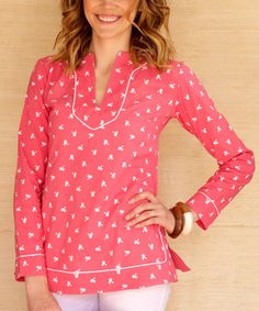 Another great find on #zulily! Pink Palm Tree Audrey Tunic by Kayce Hughes #zulilyfinds