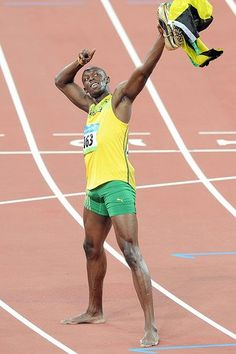 Usain Bolt the sprinter from Jamaica.