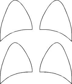 Printable Cat Ears Template | Birthday party Ideas | Pinterest | Cat ...