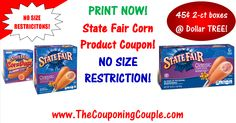 ***NEW State Fair Corn Dog Coupon ~ NO SIZE RESTRICTION*** Make sure and PRINT NOW! Use this coupon at your favorite Store! As low as 44¢ at Dollar Tree or 70¢ at Walmart for 2-count Boxes! Click the Picture below to get all of the details ► http://www.thecouponingcouple.com/new-state-fair-corn-dog-coupon-2/  Help us out and use the SHARE button below the Picture to SHARE this post with your Family and Friends!  #Coupons #Couponing #CouponCommunity  Visit us at ht