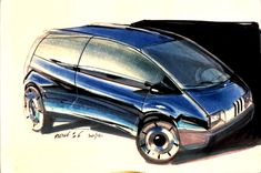 OG | Renault Twingo | Design sketch by Jean-Pierre Ploué dated 1986
