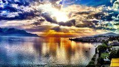 Sunset over Lake Geneva, Switzerland (Credit: Alamy)