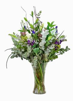 Gauteng Flower & Gift Delivery for all occasions. Whether you are looking for luxury or budget, our flower shops have what you are looking for. Sympathy Flowers, South Africa, Flower Arrangements, Glass Vase, Bouquet, Grey, Gifts, Blue, Home Decor