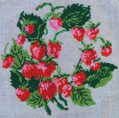 Advanced Embroidery Designs - Strawberries