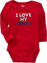Graphic Long-Sleeve Bodysuits for Baby