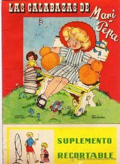 Cuento con suplemento recortable de Mari Pepa, Las calabazas. Maria Claret. texto Emilia Cortarelo.