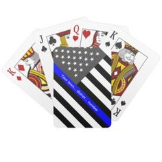 Law enforcement products that benefit the Police Unity Tour Thin Blue Line Flag, Thin Blue Lines, Police Unity Tour, Custom Playing Cards, Jokers, All Sale, Card Stock, Badge, Families