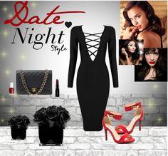 #datenight #valentinesday #sexy #date #redlips #redheels #red #LittleBlackDress