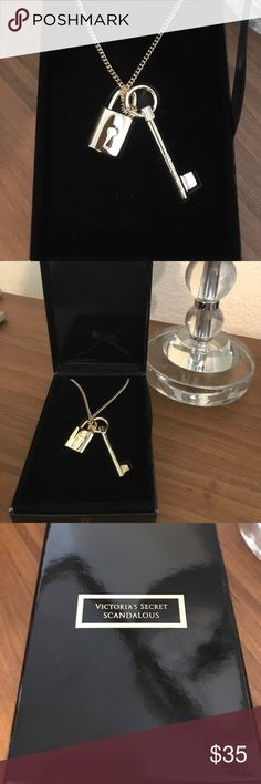 New! Lock and Key Victoria's Secret Necklace Brand new - never worn and has been stored in the original box. Gold Lock & Key Necklace. Victoria's Secret Scandalous Collection. Gold color. Not real gold. Approximately 17 inches in length. All offers will be considered Victoria's Secret Jewelry Necklaces