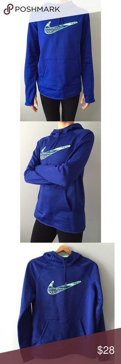 Nike Therma-FIT Pullover Hoodie NEVER BEEN WORN • Royal Blue Thermal Pullover Hoodie • NWOT Nike Tops Sweatshirts & Hoodies