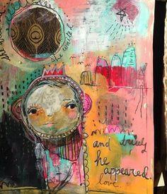 She Dreamed. an art journal page by Juliette Crane. #juliettecrane #serendipityclass