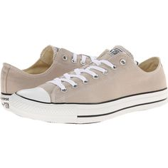 Converse Chuck Taylor All Star Seasonal Ox Athletic Shoes, Taupe ($35) ❤ liked on Polyvore featuring shoes, taupe, lace up shoes, laced up shoes, star shoes, metallic shoes and metallic lace up shoes