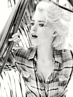 Amber Heard modelling for Guess Ads