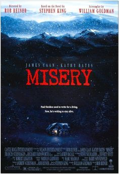 Kathy Bates in Misery Stephen King It, Stephen King Novels, Steven King, King William, Psychological Thriller Movies, Psychological Horror, Movies To Watch, Good Movies, Movies