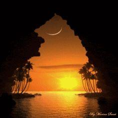 ❉ Beautiful sunset ☽ animation
