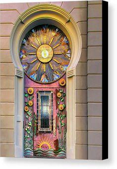 Cool Doors, Unique Doors, Art Nouveau, Canvas Art, Canvas Prints, Doorway, Windows And Doors, Art Decor, Street Art
