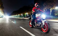 Ducati Monster 797, 2017 bikes, night, rider, Ducati
