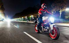 Ducati Monster 797, 2017 bikes, night, rider, Ducati