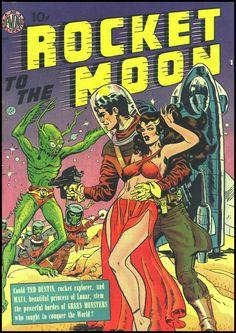 Rocket to the Moon, nn. Cover art by Joe Orlando, 1951.