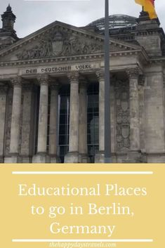 If you are looking to do some learning in Berlin, read this article for places to see that are educational in Berlin, Germany. Work Travel, Travel Goals, Travel Advice, Us Travel, Travel Around The World, Around The Worlds, Travel Tips For Europe, Travel Destinations, Working Holidays