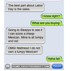 Let's get this straight... I DO NOT own a lumpy Mexican. HAHA