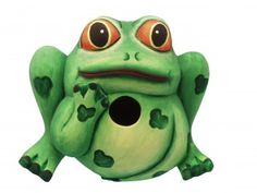Frog Shaped Birdhouse. https://www.happyholidayware.com/product/frog-shaped-birdhouse/
