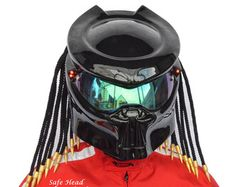Greetings! Welcome to our store. We are a manufacturer of unique motorcycle helmets. All our models have DOT & ECE certified helmet inside. It can be full face or open face, depending on the model  Now you are viewing the Predator model based on open face helmet. You can purchase this model in any size: from S to XL. All helmets are equipped with a clear visor. Every helmet is painted individually by our painters. The colors may vary slightly from what you see on the screen.  We have incr...