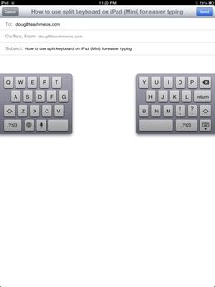 Did you know that you can split the virtual keyboard on your iPad and iPad Mini? You can also undock it. Here's how...