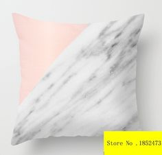 Real Carrara Italian Marble and Pink (two sides) Pillow Cases  for 12 ''14''16''18'' 20''24'' inch free shipping #Affiliate