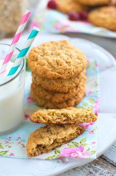 Ciasteczka owsiane z masłem orzechowym Food Cakes, Cake Recipes, Pie, Cookies, Pies, Oat Cookies, Peanut Butter, Cakes, Torte