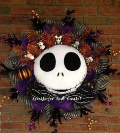 Nightmare Before Christmas Wreath Jack by SparkleForYourCastle, $209.00