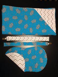 Chevron Prince flannel blanket set on Etsy, $22.00