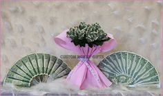 Money Fans and Roses are unique gift for a special Bride on her wedding or engagement! Available upon request with any denomination of bills. Photo by Lana Muriyan @ http//:facebook.com/photomaniac7. For price and ordering please text, message or call Margarita @ 818-903-2202