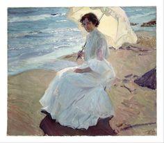 Clotilde on the Beach, 1904 - Joaquín Sorolla