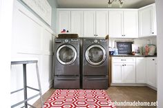 laundry room - home tour - the handmade home