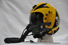 PILOT FLIGHT HELMET VF 84 JOLLY ROGERS SQUADRON.