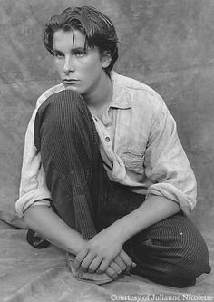"Christian Bale as Jack Kelly in ""Newsies"" (circa 1992)."