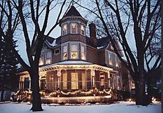 victorian christmas houses - Google Search