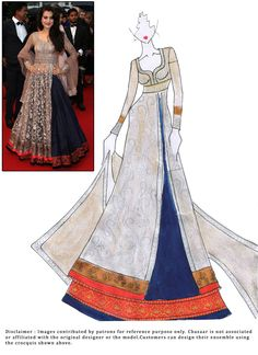 #DIY #AmeeshaPatel #Long #Choli #Lehenga