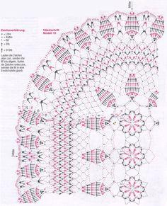 Салфетки вязаные крючком по кругу схема 1