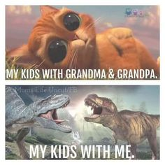 My kids with grandparents vs with me