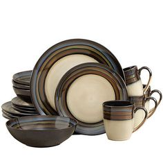 Dinner Service Sets 36032: Pfaltzgraff Everyday Galaxy Blue 32 Piece Dinnerware Set -> BUY IT NOW ONLY: $139.99 on eBay!