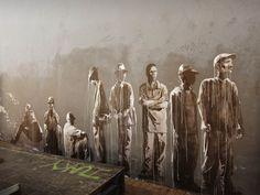 See the best of street art, graffiti & urban art in Mr Pilgrim's online gallery including original street art for sale, canvas art & graffiti art 3d Street Art, Amazing Street Art, Street Art Graffiti, Street Artists, Art And Illustration, Illustrations, Banksy, Urban Graffiti, Street Art