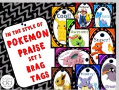 I love these brag tags! They are perfect for the new Pokemon Go craze. Check out Thank A Teacher on TeachersPayTeachers. Love them!