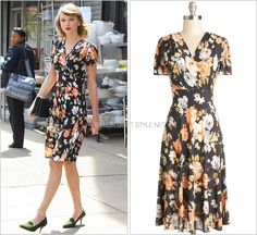 Leaving the gym | New York City, NY | April 28, 2014 ModCloth 'One Floral, All For One Dress' - $139.99 I love the vintage-y silhouette of this knee-length floral dress by ModCloth. the demure...