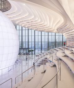 MVRDV shapes tianjin binhai library around luminous spherical auditorium